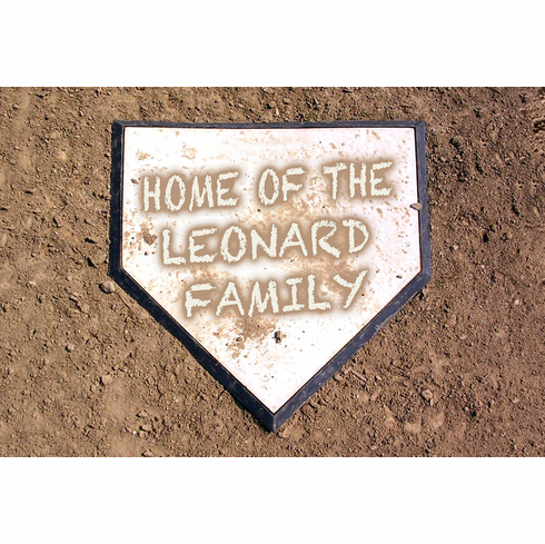 Bon Personalized Dirty Home Plate Baseball Doormat Zoom
