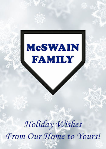 Personalized Home Plate Baseball Holiday Cards<br>60 CARD MINIMUM