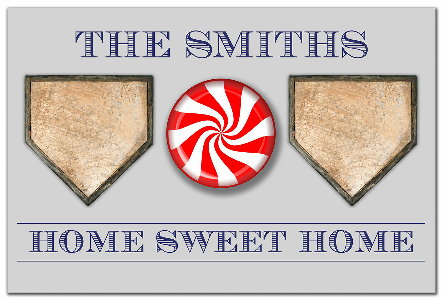 Personalized Home Sweet Home Baseball Doormat