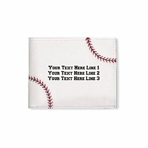 Personalized Men's Baseball Wallet