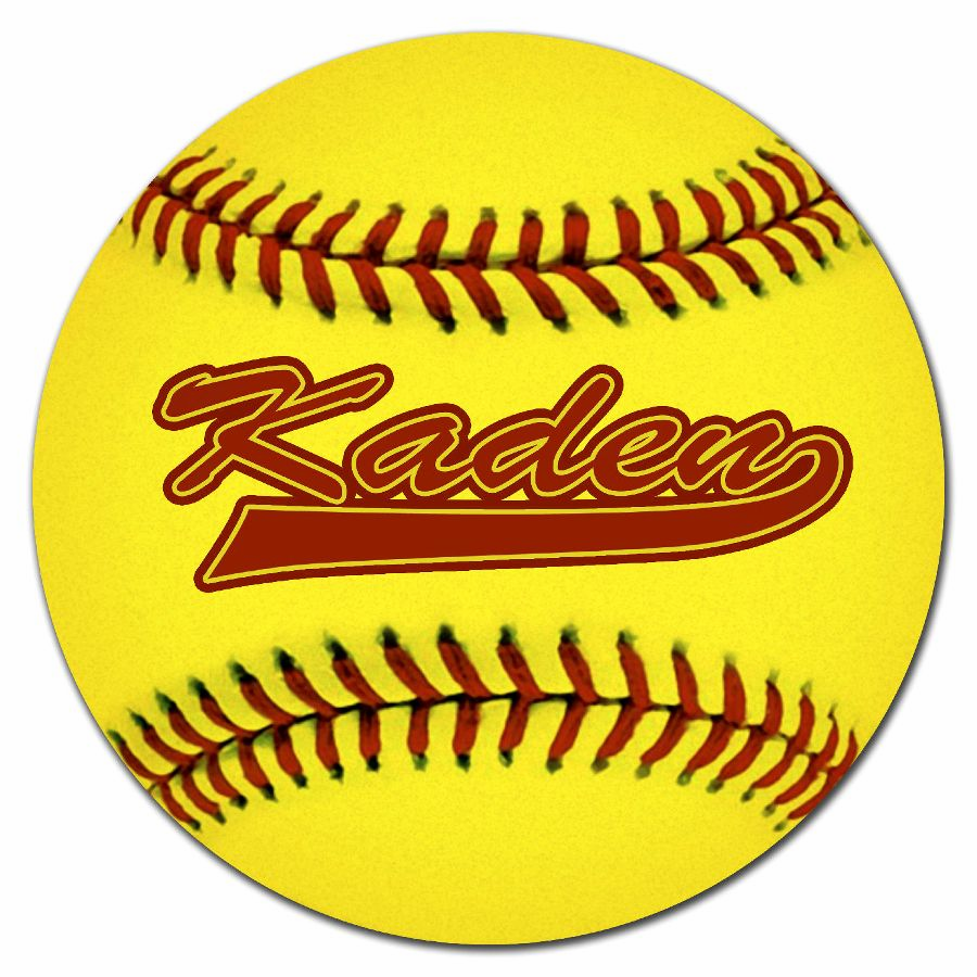 'Personalized Softball Floor Mat' from the web at 'https://sep.yimg.com/ay/everythingbaseball/personalized-softball-floor-mat-1.png'