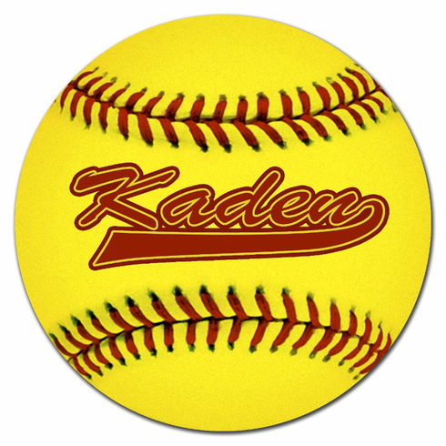 Personalized Softball Floor Mat