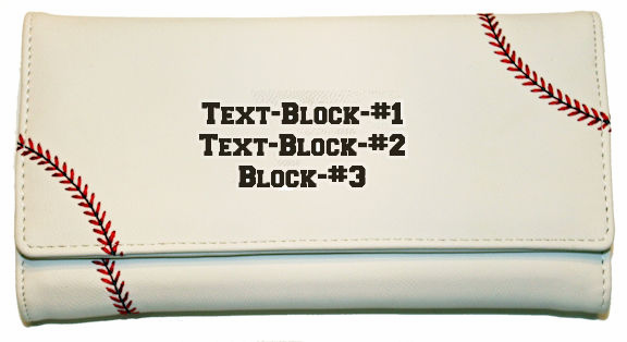 Personalized Women's White Baseball Wallet