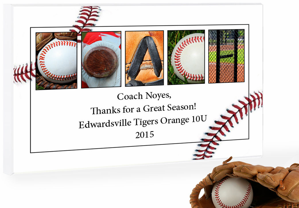 'PERSONALIZED Wood Plaque<br>Baseball Letter Art<br>Up to 4 Lines of Text' from the web at 'https://sep.yimg.com/ay/everythingbaseball/personalized-wood-plaque-baseball-letter-art-up-to-4-lines-of-text-1.png'