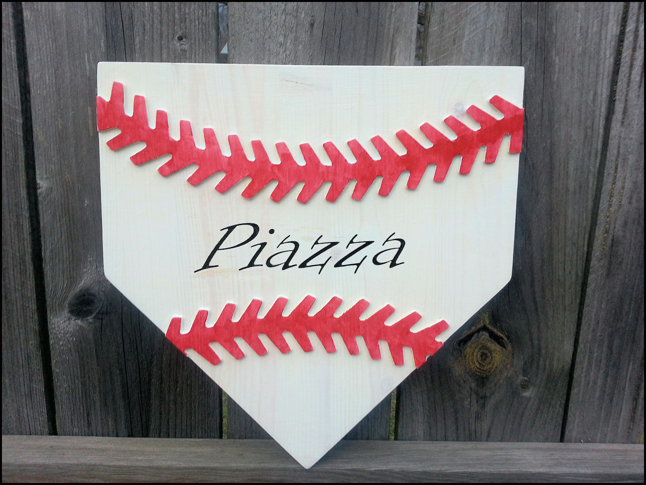 Personalized Wooden Home Plate Baseball Art
