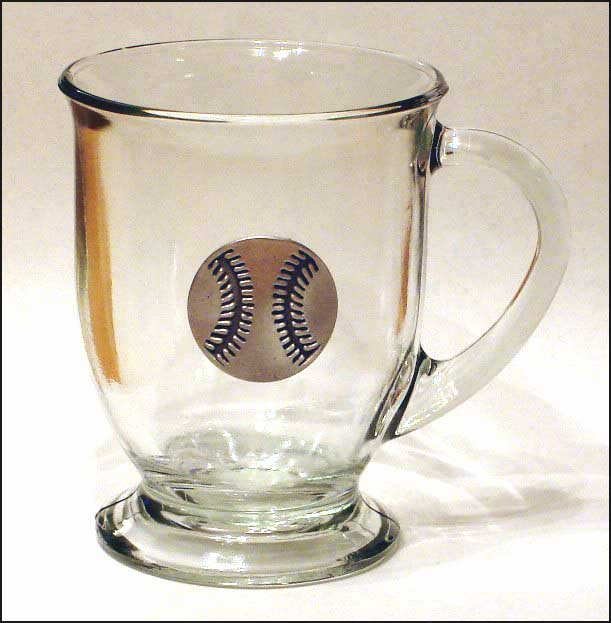 Pewter Baseball Cappuccino Mug<br>LESS THAN 6 LEFT!