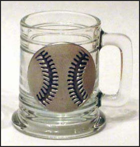 Pewter Baseball Mini Mug Shot Glass<br>ONLY 4 LEFT!