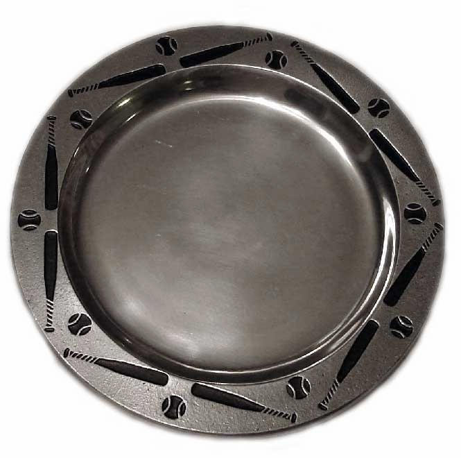 Pewter Baseball Plates