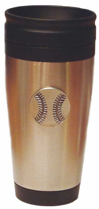 Pewter Baseball Travel Mug<br>ONLY 2 LEFT!