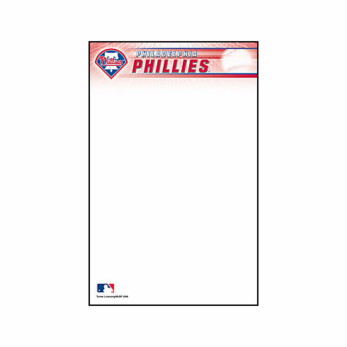 Philadelphia Phillies 2-Pack of 5x8 Notepads<br>ONLY 1 PACK LEFT!