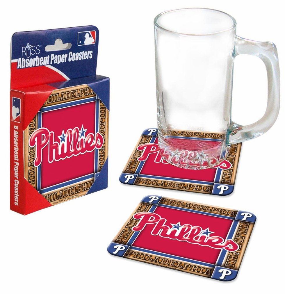 Philadelphia Phillies Absorbent Paper Coaster Set