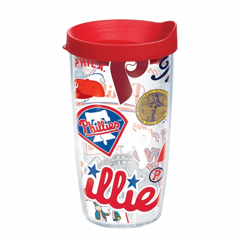 Philadelphia Phillies All Over Wrap Set of Cups with Lids by Tervis