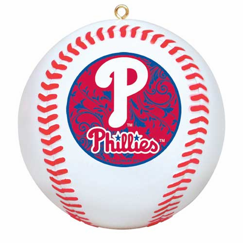 Philadelphia Phillies Baseball Ornament<br>ONLY 1 LEFT!