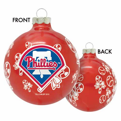 Philadelphia Phillies Candy Cane Ball Ornament<br>ONLY 1 LEFT!