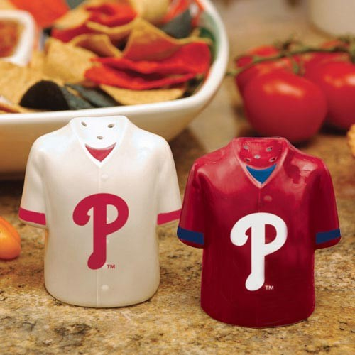 Philadelphia Phillies Ceramic Jersey Salt & Pepper Shakers