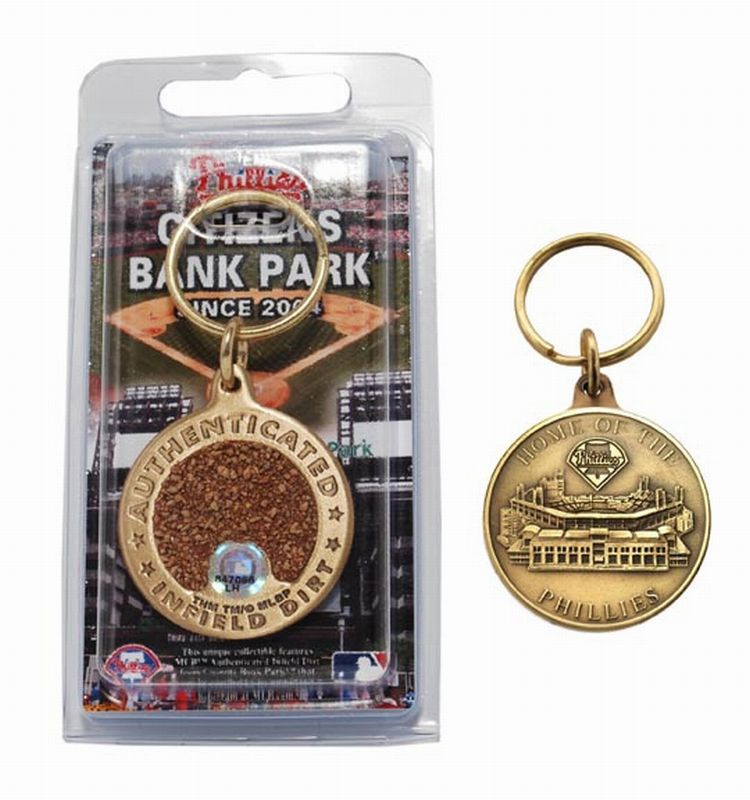 Philadelphia Phillies Citizens Bank Park Bronze Infield Dirt Keychain