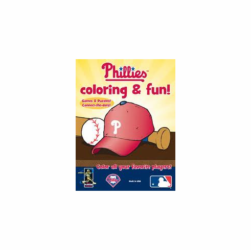 Philadelphia Phillies coloring & fun Book<br>ONLY 2 LEFT!