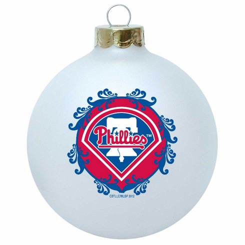 AFTER CHRISTMAS SALE!<br>Philadelphia Phillies Large Glass Ball Ornament<br>LESS THAN 3 LEFT!