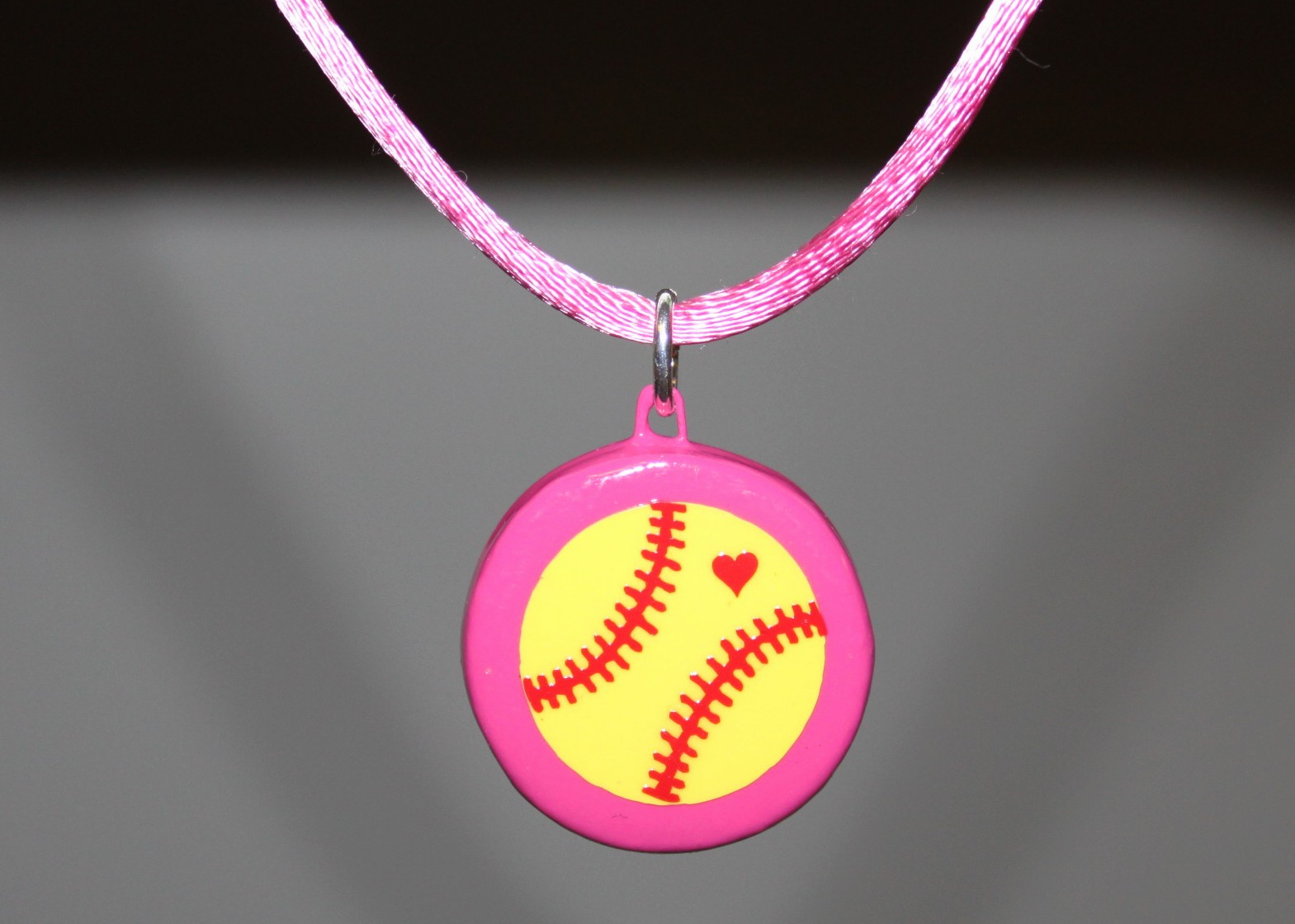 pin heart and jewelry softball necklace things