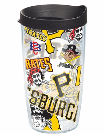 Pittsburgh Pirates All Over Wrap Set of Cups with Lids by Tervis
