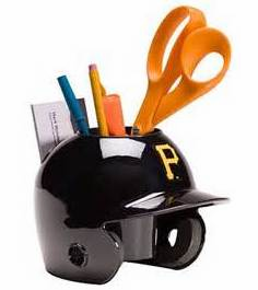 Pittsburgh Pirates Baseball Helmet Desk Caddy<br>ONLY 6 LEFT!