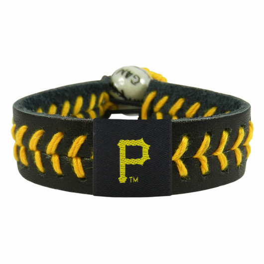 Pittsburgh Pirates<br>Baseball Seam Team Colored Bracelet