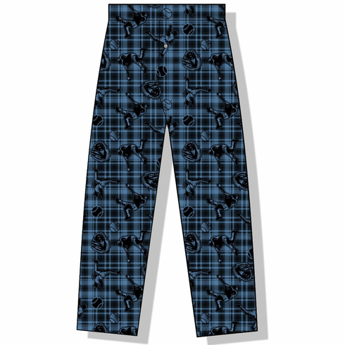 Plaid Baseball Icons Youth XS Lounge Pants<br>ONLY 2 LEFT!