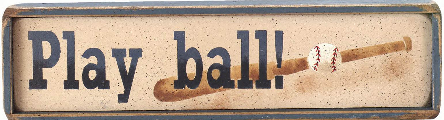 Play ball! Mini Wooden Signs