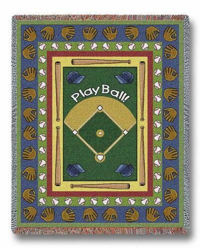 Play Ball Tapestry Throw