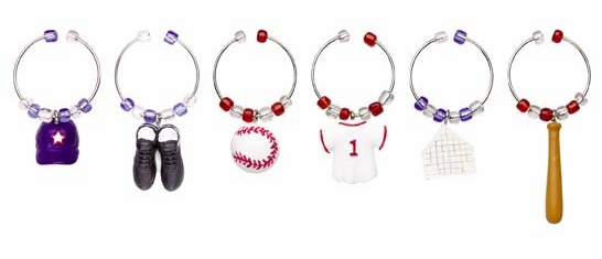 Play Ball Baseball Wine Marker Set<br>LESS THAN 3 LEFT!