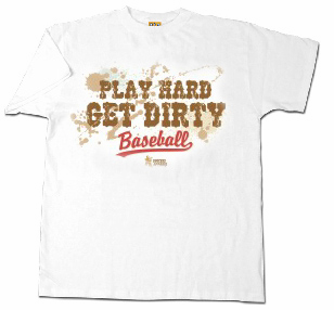 Play Hard Get Dirty Adult XL Baseball T-Shirt