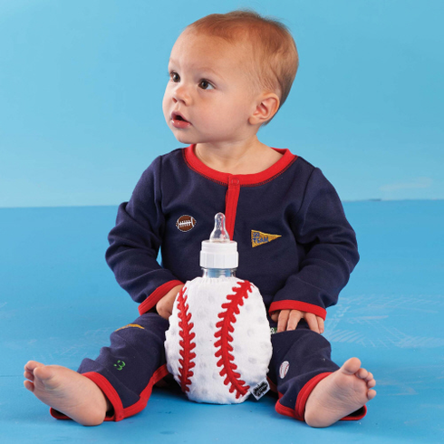 Plush Baseball Bottle Cover