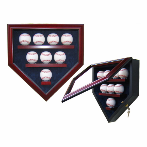 Premier Baseball Custom Display Homeplate Shaped 8 Baseball Case