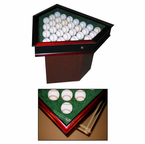 Premier Baseball Custom Display Homeplate Shaped End Tablebr3