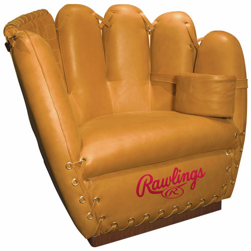 Premium Heart of the Hide Tan Baseball Glove Leather Mitt Chair by Rawlings