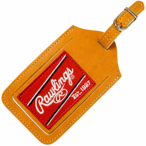 Premium Tan Baseball Glove Leather Luggage Tag by Rawlings