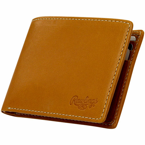WEEKLY SPECIAL #2<br>Premium Tan Baseball Glove Leather Single-Fold Wallet by Rawlings<br>LESS THAN 6 LEFT!