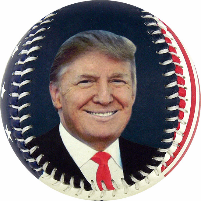 President Donald Trump Baseball