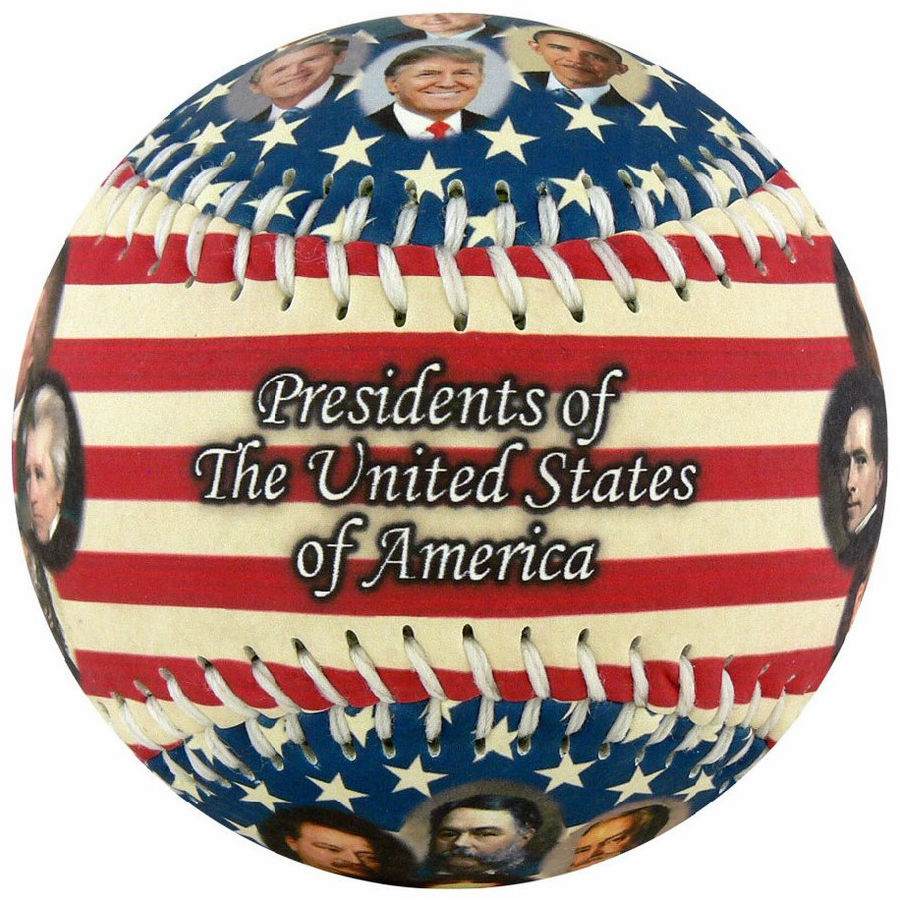Presidents of the United States 2017 Flag Baseball