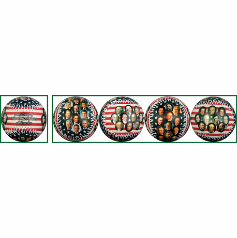 Presidents of the United States (through Obama) Flag Baseball<br>LESS THAN 6 LEFT!