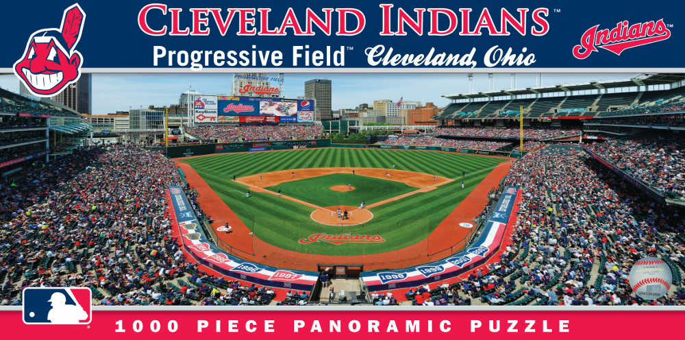 Progressive Field Cleveland Indians 1000pc Panoramic Puzzle<br>ONLY 1 LEFT!