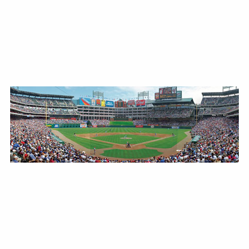 Rangers Ballpark in Arlington Texas Rangers 1000pc Panoramic Puzzle<br>ONLY 6 LEFT!