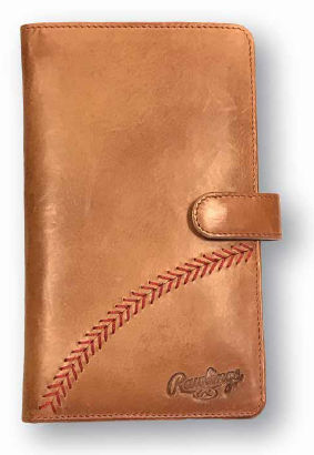 Rawlings Leather Baseball Stitch Women's Passport Wallet<br>TAN or BLACK