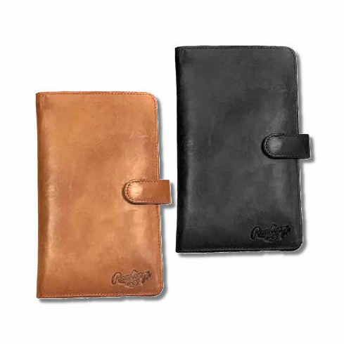 Rawlings Leather Baseball Magnetic Phone Wallets<br>SMALL or LARGE<br>TAN or BLACK