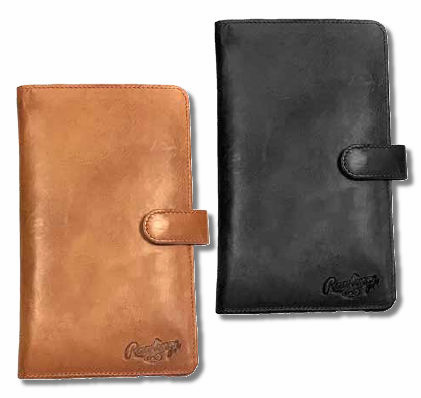 Rawlings Leather Baseball Women's Magnetic Phone Wallets<br>SMALL or LARGE<br>TAN or BLACK
