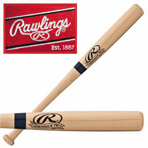 Rawlings Natural Mini Wood Bat<br>LESS THAN 24 LEFT!