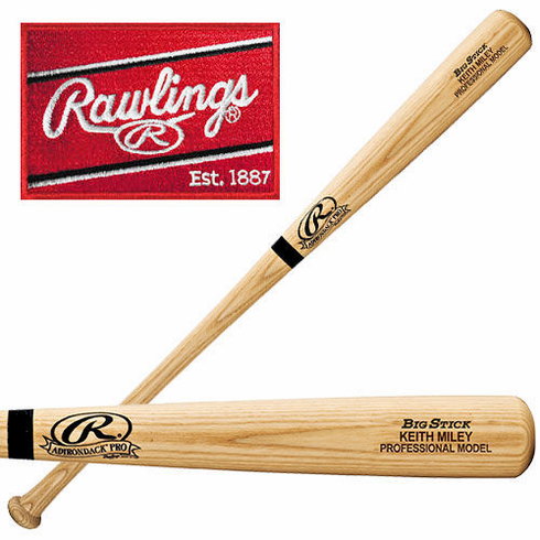 Rawlings Personalized Wood Bat - Natural or Black
