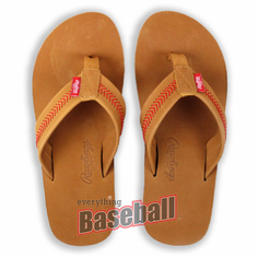 c92567db7151a3 2018 Rawlings Tan Leather Men s Baseball Flip Flops br SPECIAL PRICING  WHILE ...