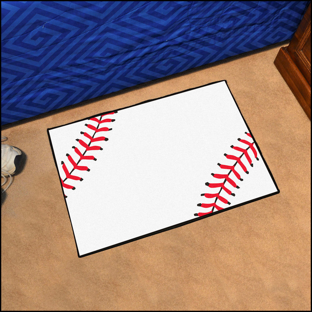 Rectangular Baseball Rugs<br>4 SIZES