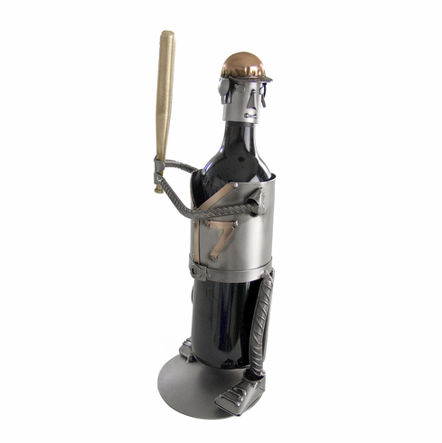 Recycled Steel Baseball Batter Wine Bottle Caddy<br>YOU CHOOSE THE NUMBER!